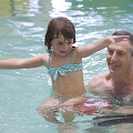 Swimming with Granpa